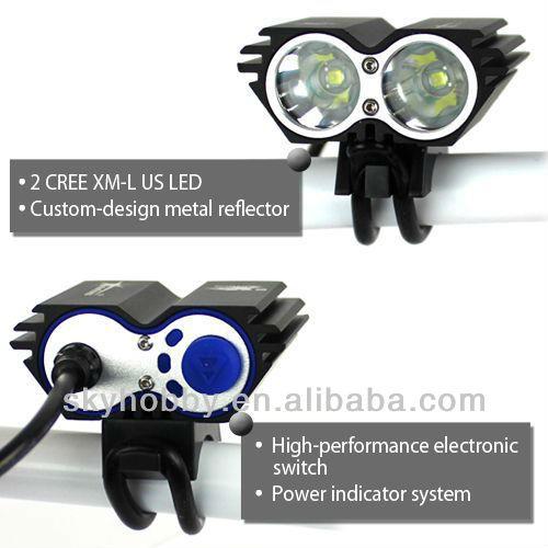 SolarStorm 5000 Lumen 2x CREE XM-L U2 LED Bicycle light Head - Fiets.nl