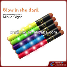 2013 disposable mini e cigar - club shisha pen with led light can grow in the dark