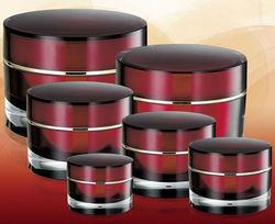 acrylic double wall jars & PMMA double wall jars