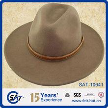 100% wool felt wide brim hat men fedora hat wholesale felt hat