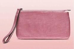 Pink metallic pu leather Classic Clutch Bag,long handle Clutch Wallet,Ladies Clutch handbag