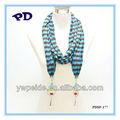 wholesalehigh qualità ciondolo gioielli sciarpa a righe sciarpa del crochet pattern