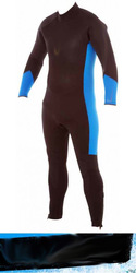 Mens Thermo 7mm Dive Steamer Black Blue Wetsuit