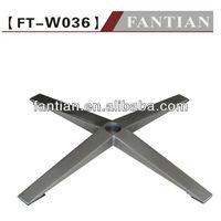 Hot selling aluminum chair base part for office metal chair base part with 5-star swivel aluminum metal chair part leg