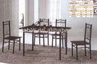 [HOT][room furniture manufacturer]simple modern design rectangular wood metal black dining table set 2025