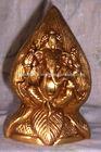 Antique Rare Hand Crafted Brass metal Hindu God Ganesha Statue