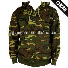 100% cotton camouflage hoodie unisex