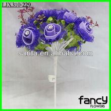 Artificial purple wedding decorations wholesale bride flower