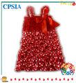 regali di natale per i bambini ragazze ingrosso rosso e bianco polka dot vestito ragazza Metty natale