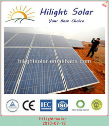 high quality poly solar panel module with TUV CE CEC ISO IEC INMETRO