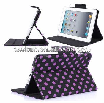 Polka dot tablet case for ipad mini case with dormancy