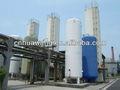 oxígeno líquido del tanque de almacenamiento