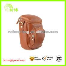 custom wholesale leather camera bag for samsung