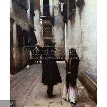 Handmade famous venice italy oil painting landscape art on canvas, Venetian Street by John Singer Sargent