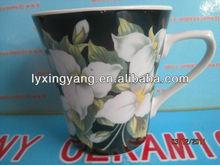 V-shaped coffee mug;low price mug heat press machine;hand painted print mug