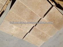 "Light Travertine - Bullnose, Pool Coping 305x610x30 mm (12x24x1.1/5"") - Premium Quality"