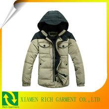 2013 men cotton wax coated jacket men cotton fabric teflon coated