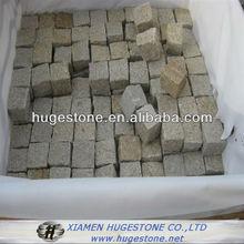 g682 yellow granite cube natural split