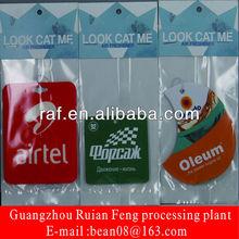 Paper Air Fresheners for bedroom/factory direct aromatic paper car air freshener/aroma paper car air freshener