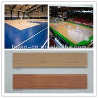 Super Wear-Resisting Morden Wood Indoor Basketball Court PVC Flooring Roll