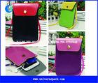 custom sling pu pouches for mini ipad /phone