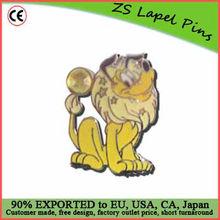 animal pin badge/ lion lapel pin