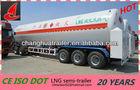 Tri-axle LNG tanker semi trailer liquified natural gas trailer truck