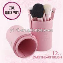 Brand!Pink Canister brush set wholesale eyes lips face brushes
