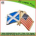 Cross pin de lapela bandeira emblema/gold pin de lapela bandeira