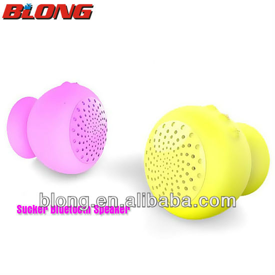 Cute multifunction ball Bluetooth speaker with silicone suction cup