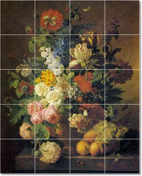Jan Frans Van Dael Flowers Painting Ceramic Art Tile Mural PT22285