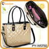 fashion tote quilted patent leather mummy bag