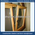 italian style solid oak wood frame aluminum wood window