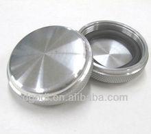 stainless steel knurling threaded end cap, steel cap
