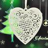ceramic heart shape tree ornament