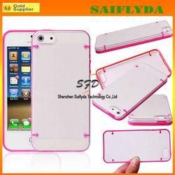 high quality transparent case for iphone 5c bumper case