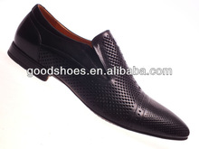 Fancy men dress shoes with holes on the upper in guangzhou