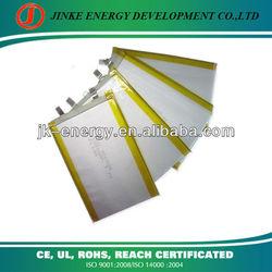 3.7v 1800mah lithium polymer battery cell 306598 1800mah mp3 mp4 mp5 battery
