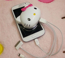 Cute Hello Kitty 6000mAh Power Bank Portable Power bank For iphone/Sumsung/htc