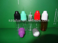 long thin drip tip and childproof top dropper bottle, 10ml long thin tip plastic dropper bottle ( e-liquid bottle 10ml)
