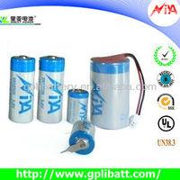 1200mAh 3.6v 1/2aa 14250 water powered battery