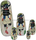 Native American Red Indian tribe Nested Stacking dolls