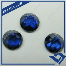 round shape natural cut dark blue sale spinel