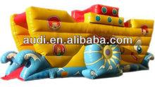 Tugboat Inflatable Slide,inflatable ship slide,boat inflatable children slide