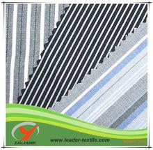 Black white striped cotton fabric