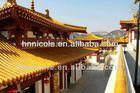 chinese antique flat roof garden gazebo