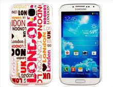 London Print Plastic Case for Samsung Galaxy S4 I9500 (White)