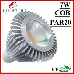 best heat sink 6063 aviation aluminum 7w color changing par20 epistar led light
