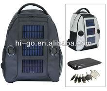 2013 hottest seller creative backpack portable solar charger bag with speaker