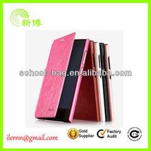 unique design wallet card-slot pu leather cell mobile phone case
